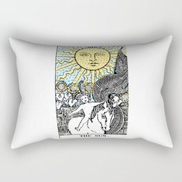 Modern Tarot Design - 19 The Sun Rectangular Pillow