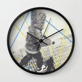 Boy and skate Wall Clock