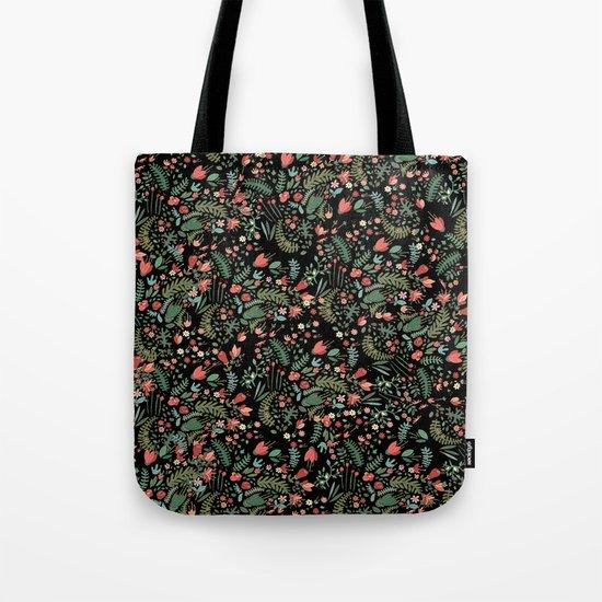 Floral Patern Tote Bag