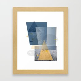 twigs and trees Framed Art Print