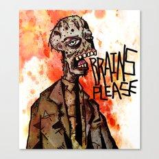 Brains Please Canvas Print