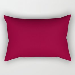 Oxblood - solid color Rectangular Pillow