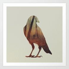 Crow Art Print