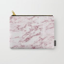 Contento rosa pink marble Carry-All Pouch