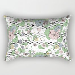 60s floral framed Rectangular Pillow