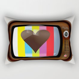 I Love TV vintage poster Rectangular Pillow