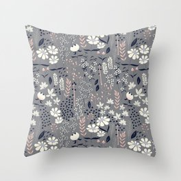 Flower garden 003 Throw Pillow