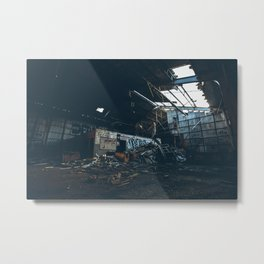 crushed Metal Print
