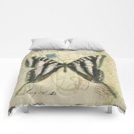 Zebra Butterfly Comforters