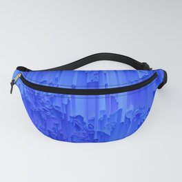 Melted, blue Fanny Pack