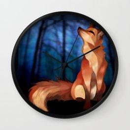 Wild At Heart Fox Wall Clock