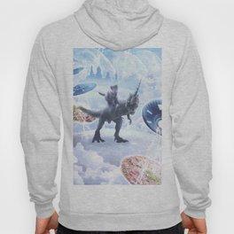 Space Cat Riding Dinosaur Unicorn - Pizza & Taco Hoody
