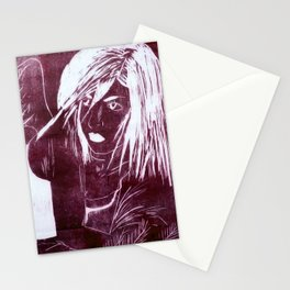 Crow Girl - Burgundy Stationery Cards