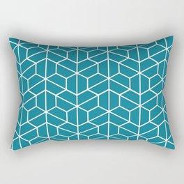 Blue hexagons Rectangular Pillow