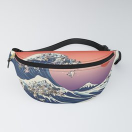 The Great Wave Of  French Bulldog Fanny Pack