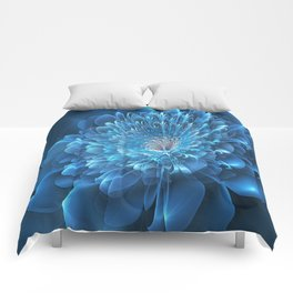 3D Blue Flower Comforters