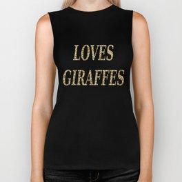 Giraffe Print Biker Tank