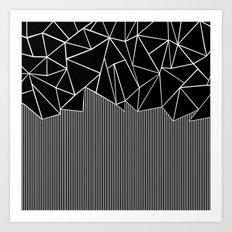 Ab Lines Black Art Print