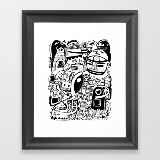 BIG - BW Framed Art Print