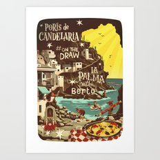 Porís de Candelaria #onthedraw in La Palma Art Print