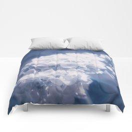 Grace and Beauty Defined a blue Hydrangea flower Comforters