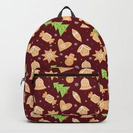 Christmas gingerbread cookies Backpack