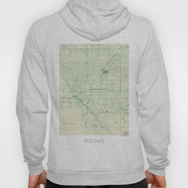 Fresno Map Blue Vintage Hoody