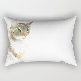 Supremely innocent, tragically misunderstood - brown tabby cat 1 Rectangular Pillow