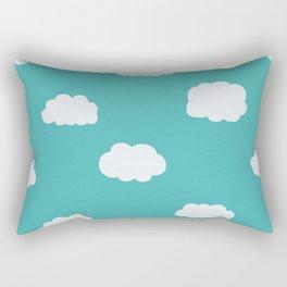 Cartoon Clouds Pattern Rectangular Pillow