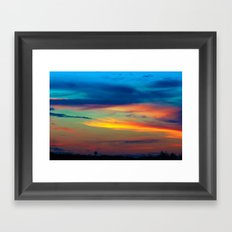 Sunset in Caleidoscope Framed Art Print