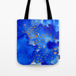 gold snow I Tote Bag