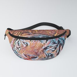 AnimalMix_Tiger_019_by_JAMColors Fanny Pack