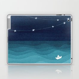 Garland of stars, teal ocean Laptop & iPad Skin