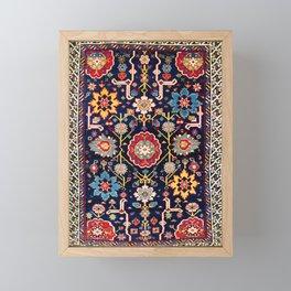 Shirvan Caucasian Afshan Antique Rug Print Framed Mini Art Print