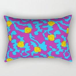 Rubber ducks on purple Rectangular Pillow