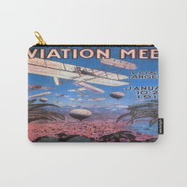 Vintage poster - Aviation Meet Carry-All Pouch