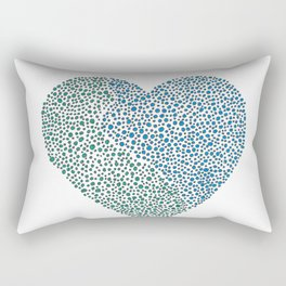 Blue Heart Rectangular Pillow