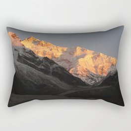Sunrise On The World's Third Tallest Mountain Rectangular Pillow