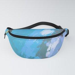 Color Splash Pattern | Teal • Blue • Lavender Fanny Pack