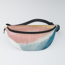 Exhale: a pretty, minimal, acrylic piece in pinks, blues, and gold Fanny Pack