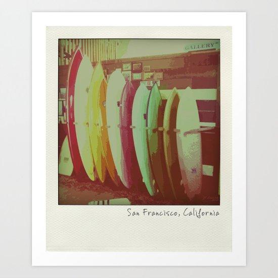 Surfboards in San Francisco Art Print