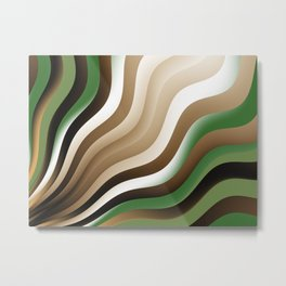 Graphic Design, Fractal Art Waves Metal Print