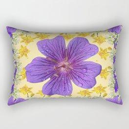 PANTENE ULTRA VIOLET PURPLE FLOWERS ART DESIGN Rectangular Pillow