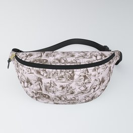 Alice in Wonderland | Toile de Jouy | Brown and Pink Fanny Pack