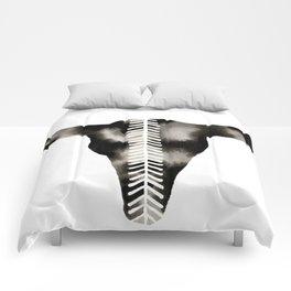 Chevron Buffalo Skull Comforters