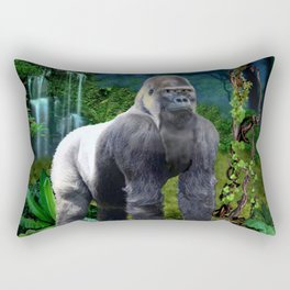 Silverback Gorilla Guardian of the Rainforest Rectangular Pillow
