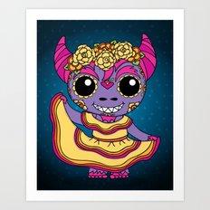 Cucuy Folkorico Dancer Art Print