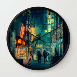 Tokyo Nights / Memories of Green / Blade Runner Vibes / Cyberpunk / Liam Wong Wall Clock