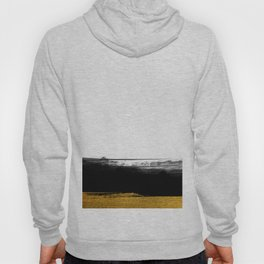 Black and Gold grunge stripes on clear white background - Stripe - Striped Hoody