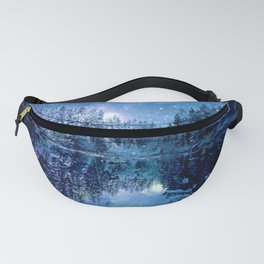 A Cold Winter's Night : Turquoise Teal Blue Winter Wonderland Fanny Pack